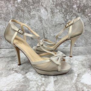 Kate Spade Champagne Gold Shimmer Heels Sz 8.5